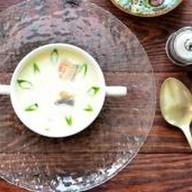 Суп сырный с угрем Фото