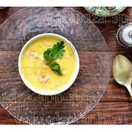 Кукурузный крем-суп с креветками Фото