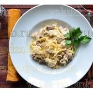Тальятелле с говядиной и грибами Фото