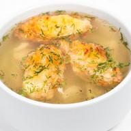 Суп куриный с кнелями Фото