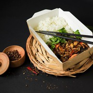 Рис со свининой, грибами муэр, яйцом Фото