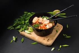 Жареный рис с креветкой - Фото