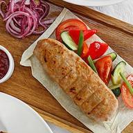 Кебаб из индейки с овощным гарниром Фото