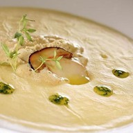 Картофельный крем-суп с белыми грибами Фото