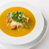 Тыквенный крем-суп с сырным кремом Фото
