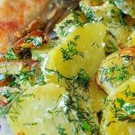 Жареный картофель в сливках Фото