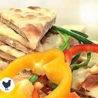 Осетинский пирог с курицей и гриб Фото