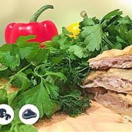 Осетинский пирог с мясом и грибам Фото