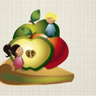 Пирог с молодильными яблочками Фото