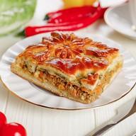 Русский мясной пирог Фото