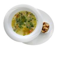 Куриный суп с грибами и диким рисом Фото
