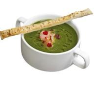 Суп-пюре из шпината с норвежской семгой Фото