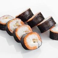Нежный ролл-рулет с лососем и сыром. Фото