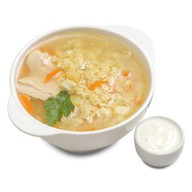 Суп куриный Фото