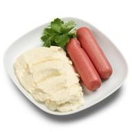 Пюре картофельное с сосисками Фото