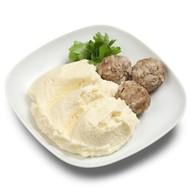 Пюре картофельное с фрикадельками Фото