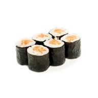 Тонкие роллы с лососем Фото