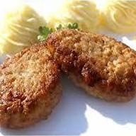 Котлеты из куриного филе с пюре Фото