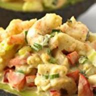 Авокадо с креветками Фото