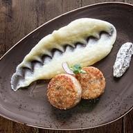 Рыбные котлеты с картофельным пюре Фото