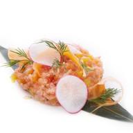 Тар-тар из свежего лосося с грейпфрутом Фото