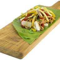 Жареный удон с овощами в фирменном соусе Фото