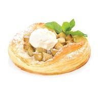 Яблочный пирог с шариком ванильно Фото