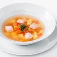 Суп рыбный с лососем Фото