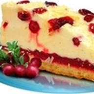 Брусничный кремовый пирог с шоколадом Фото