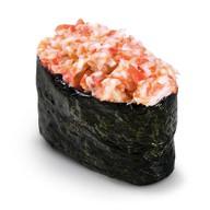 Запечённые суши снежный краб Фото