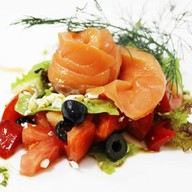 С лососем по-гречески Фото