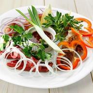 Горячая мясная тарелка Фото