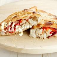 Пирог-кальцоне с курицей терияки,беконом Фото