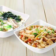 Ланч Кимчи + рис с курицей терияки Фото