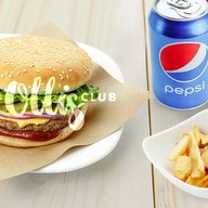 Гамбургер, фри, пепси 0,33 Фото