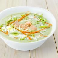 Суп-пюре из шпината с лососем Фото