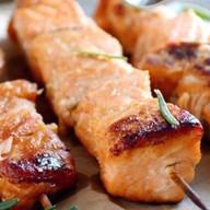 Шашлык из филе лосося Фото