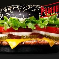 Черный чикенбургер Фото