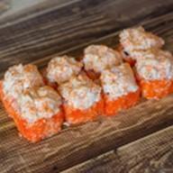 Горячий ролл с лососем Фото
