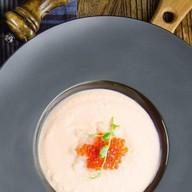 Крем-суп из копченого лосося Фото