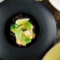 Филе палтуса с кус-кусом и овощами Фото