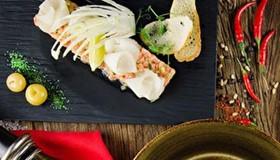 Тар-тар из лосося с дыней - Фото