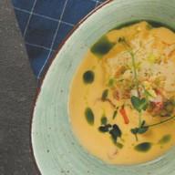 Сырный крем-суп с креветками Фото