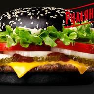 Черный бифбургер Фото