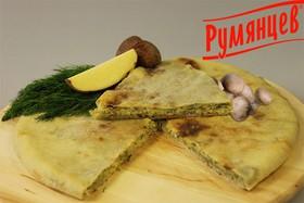 Осетинский пирог с грибами и картофелем - Фото