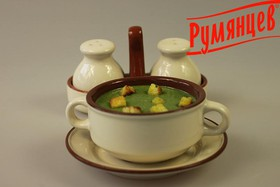 Суп-пюре со шпинатом - Фото
