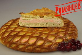Сладкий пирог с творогом и вишней - Фото