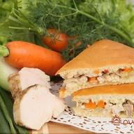 Пирог с индейкой и овощами Фото