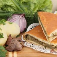 Пирог с печенью и картофелем Фото