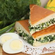 Пирог с зеленым луком и яйцом Фото